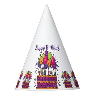 Chapéus #1 do partido do bolo do feliz aniversario
