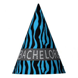 Chapéus azuis de Bachelorette do diamante do falso