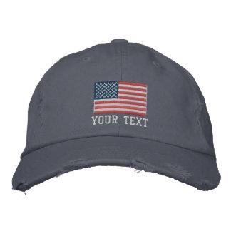 Chapéus bordados costume com logotipo da bandeira boné bordado