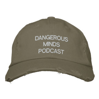 Chapéus bordados das mentes Podcast perigoso Boné Bordado