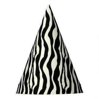 Chapéus chiques do partido do impressão da zebra