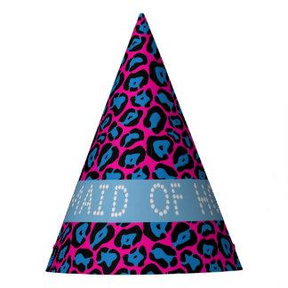 Chapéus cor-de-rosa/azuis da madrinha de casamento