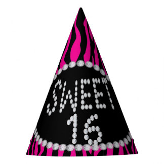 Chapéus cor-de-rosa do partido do doce 16 do