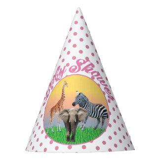 Chapéus de chá de fraldas cor-de-rosa animais das
