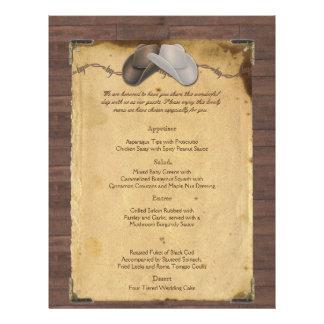 Chapéus de vaqueiro rústicos do país que Wedding o Panfletos Personalizados