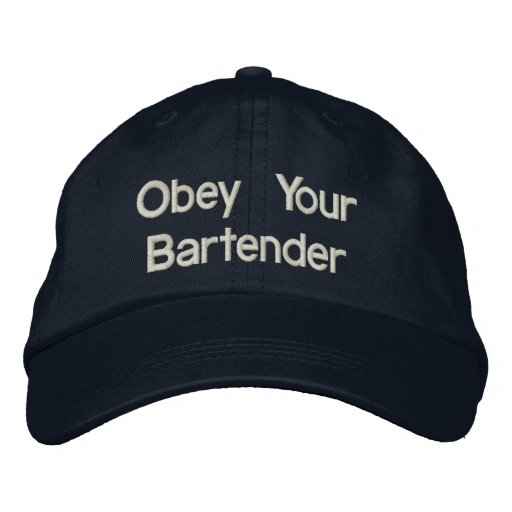Chapéus do barman - obedeça seu barman bone bordado