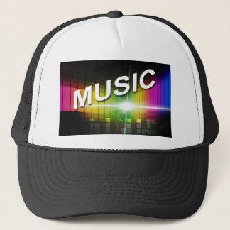 Chapéus do camionista da ilustração da música boné