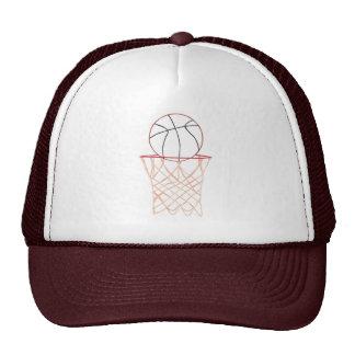 Chapéus dos esportes do desenho de esboço do basqu bonés