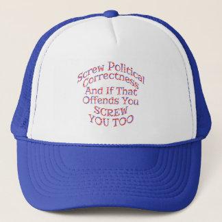 Chapéus e bonés da exatidão política do parafuso