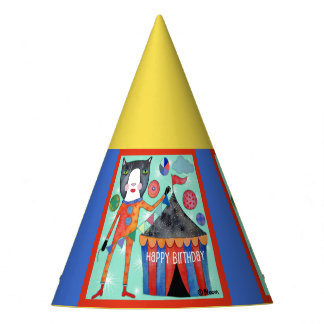 Chapéus felizes da festa de aniversário do gato do