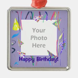 Chapéus felizes da festa de aniversário (quadro da ornamento para arvores de natal
