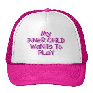 Chapéus internos da criança boné