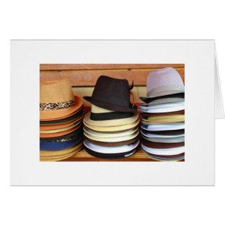 Chapéus para a venda cartões