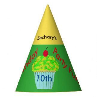Chapéus personalizados cupcake do aniversário do