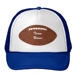 Chapéus personalizados do futebol do nome da equip boné