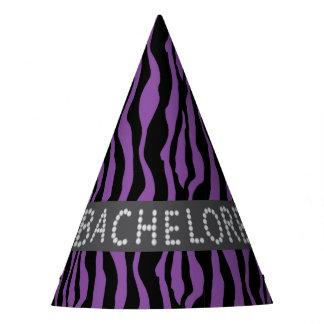 Chapéus roxos de Bachelorette do diamante do falso