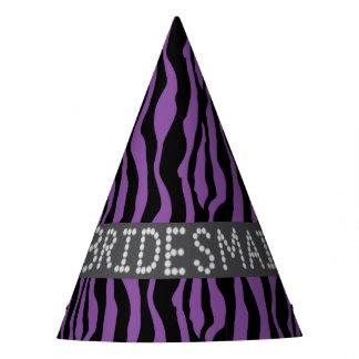 Chapéus roxos do partido da dama de honra do