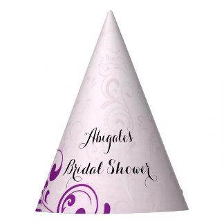 Chapéus roxos personalizados do partido de chá de