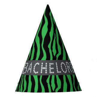 Chapéus verdes de Bachelorette do diamante do
