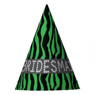Chapéus verdes do partido da dama de honra do
