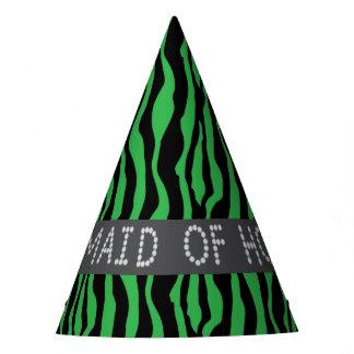 Chapéus verdes do partido da madrinha de casamento