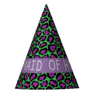 Chapéus verdes/roxos da madrinha de casamento do