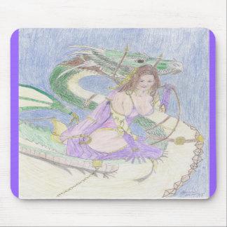 Chariot do dragão mouse pad