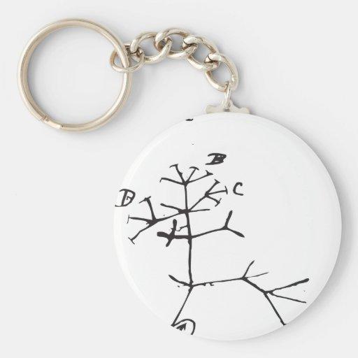 Charles Darwin - eu penso (o preto) Chaveiros