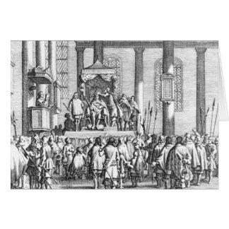 Charles II coroado no Scone, 1651 Cartão
