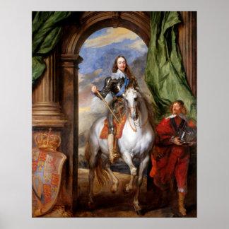 Charles mim a cavalo por Van Dyck Posters