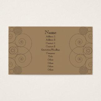 Charleston - chocolate de leite cartão de visitas