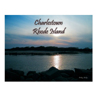 Charlestown Rhode - cartão da ilha