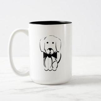 Charlie a caneca do dachshund - preto e branco