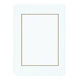 Charlotte azul e listras brancas azuis pálido convite 11.30 x 15.87cm