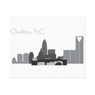 Charlotte, impressão das canvas do NC