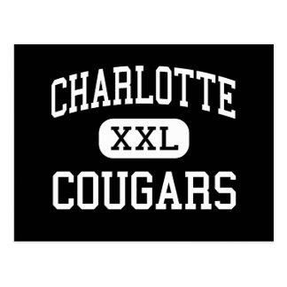 Charlotte - pumas - católico - Charlotte Cartões Postais