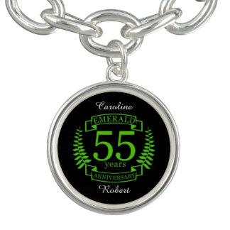 Charm Bracelet 55th ESMERALDA do ANIVERSÁRIO de casamento