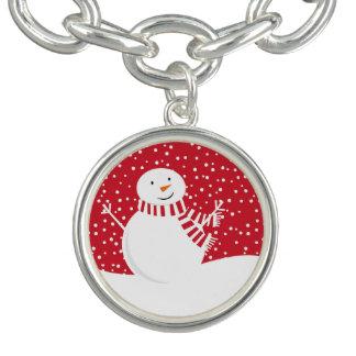 Charm Bracelet boneco de neve contemporâneo moderno do inverno