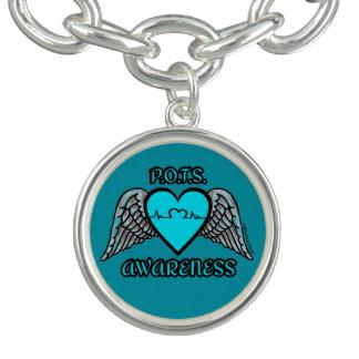 Charm Bracelet Coração/asas… P.O.T.S.