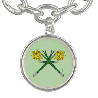 Charm Bracelet Daffodils cruzados