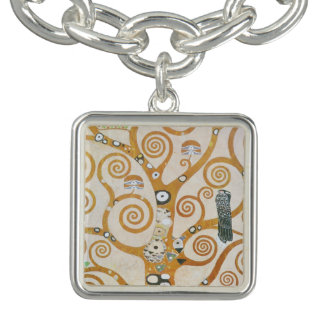Charm Bracelet Gustavo Klimt a árvore da arte Nouveau da vida