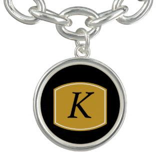 Charm Bracelet Monograma clássico