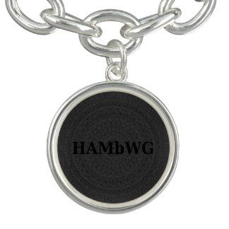 Charm Bracelet Prata de HAMbWG ou jóia chapeada prata do encanto