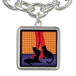 Charm Bracelet Senhora sã do gato de Purrfectly