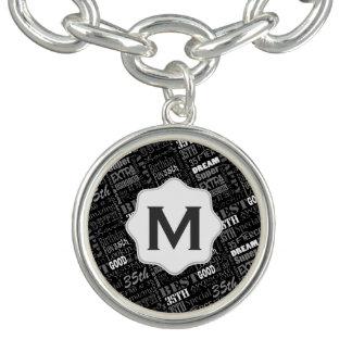 Charm Bracelets 35o Monograma personalizado Special da festa de