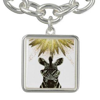 Charm Bracelets Animal do estilo da zebra do hipster