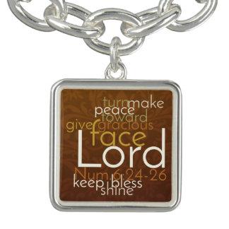 Charm Bracelets Bênção sacerdotal no damasco de cobre de Brown