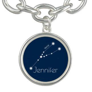 Charm Bracelets Constelação personalizada do zodíaco do Taurus