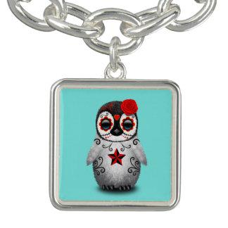 Charm Bracelets Dia vermelho do pinguim inoperante do bebê