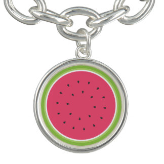 Charm Bracelets Fatia da melancia